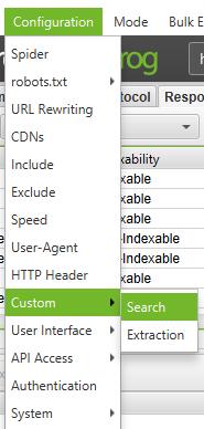 Spider Configuration Custom Search