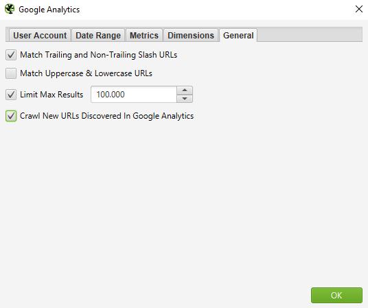 Screaming Frog Google Analytics